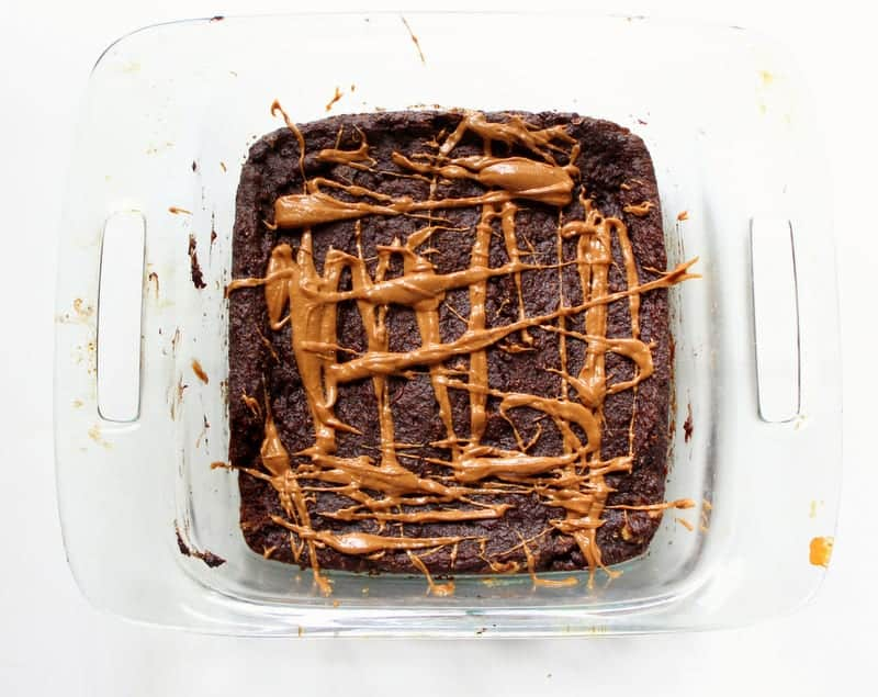 Coffee Flour Peanut Butter Zucchini Brownies - vegan, dairy free, low fodmap