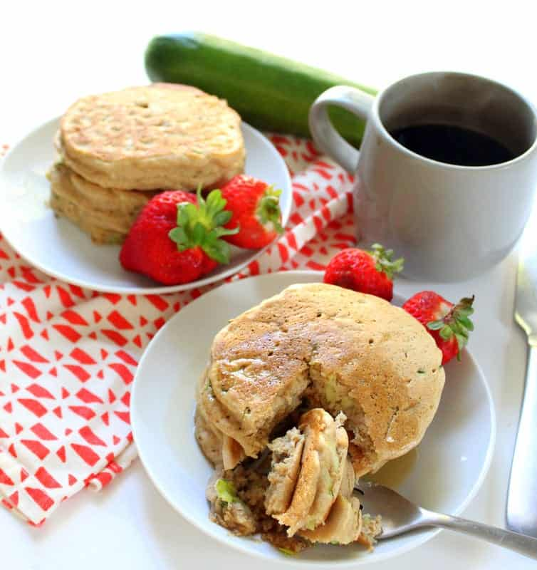 Zucchini Pancakes - low FODMAP, gluten free, dairy free