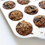 Oatmeal Blueberry Carrot Zucchini Muffins - low FODMAP, gluten free, dairy free