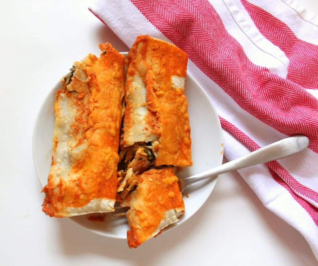 low FODMAP Enchiladas with Pumpkin and Spinach - low fodmap, gluten free
