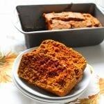 Fall Spice Pumpkin Bread - gluten free, lactose free, low FODMAP