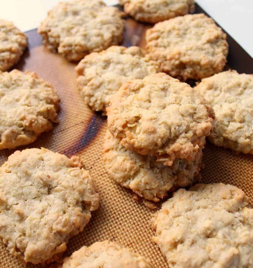 Butter Coconut Oat Cookies - low FODMAP, gluten free