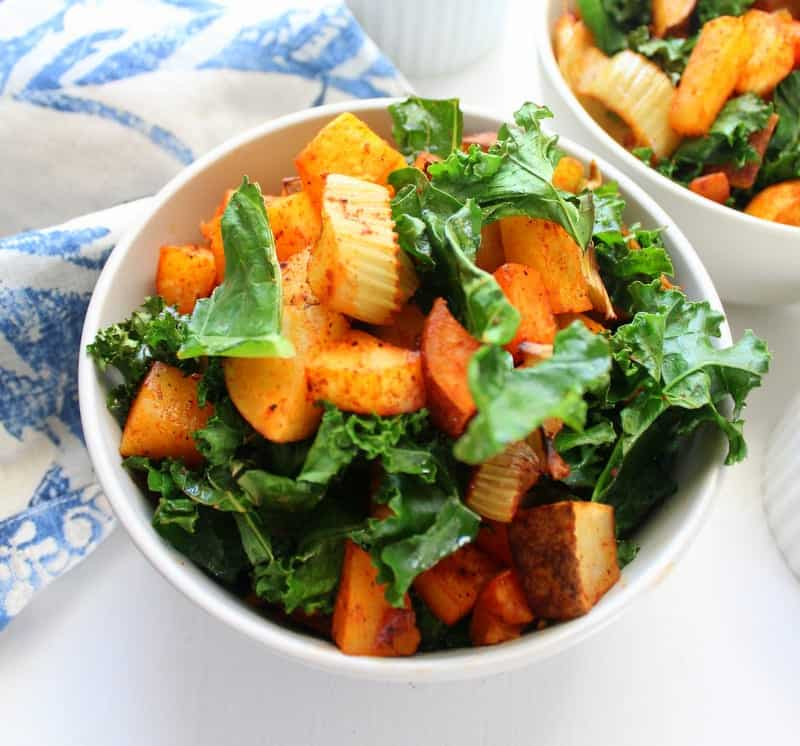 Roasted Vegetable Winter Salad - low FODMAP, vegetarian, vegan, dairy free, gluten free