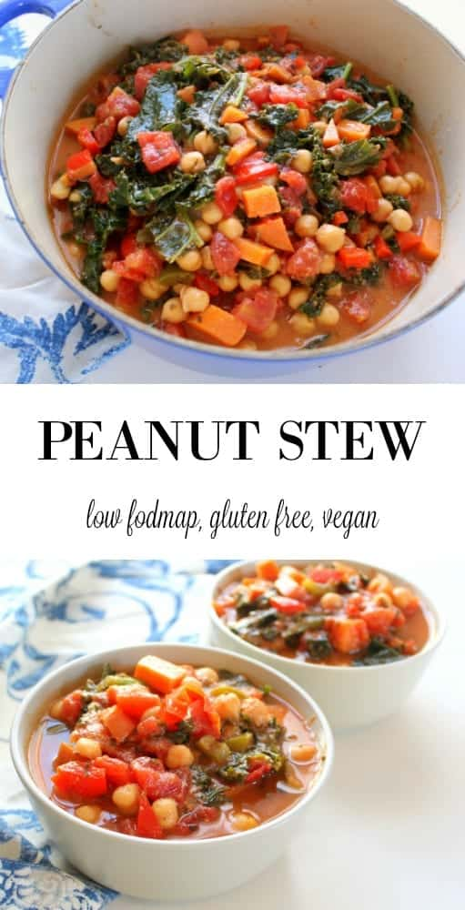 Peanut Stew - low FODMAP, gluten free, grain free, vegan, vegetarian, dairy free