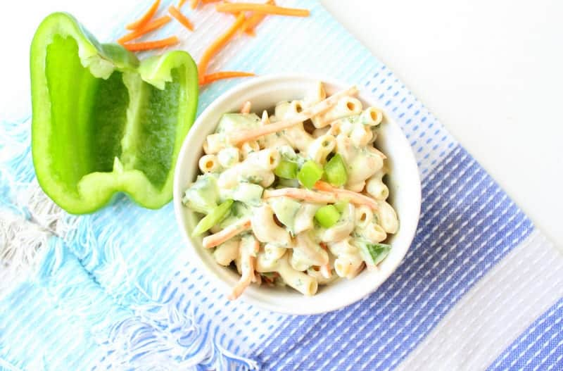 low FODMAP Macaroni Salad gluten free, healthy