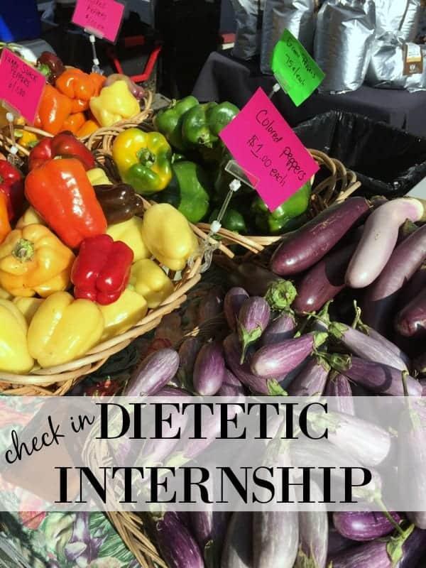 Dietetic Internship Update