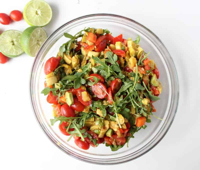 Summer Squash Salad - low FODMAP, gluten free, grain free, dairy free