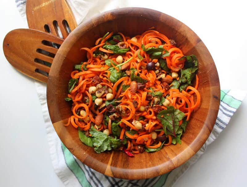 Moroccan Carrot and Chickpea Salad - low FODMAP, gluten free, dairy free, grain free
