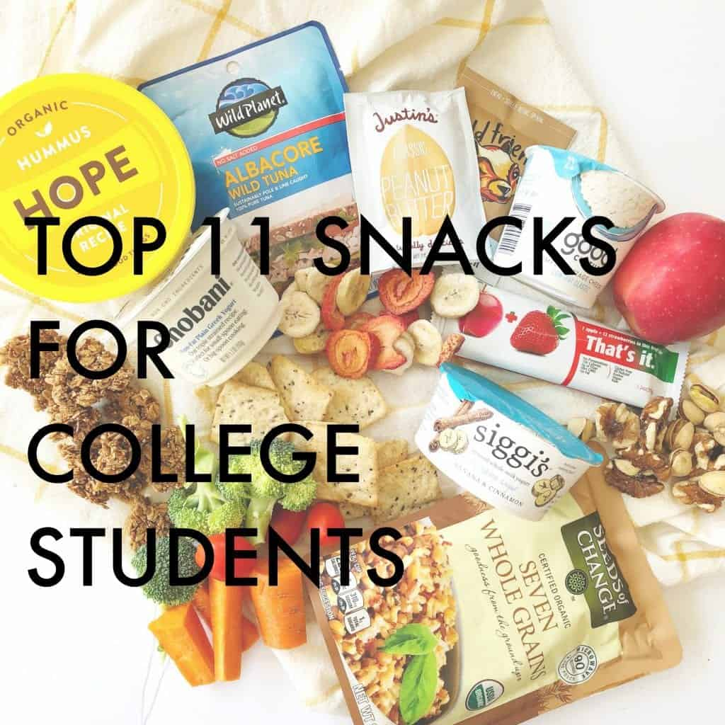 Top 11 Healthy Snacks for College Students