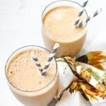 Pumpkin Spice Latte Smoothie - gluten free, low fodmap #glutenfree #lowfodmap #smoothie #psl