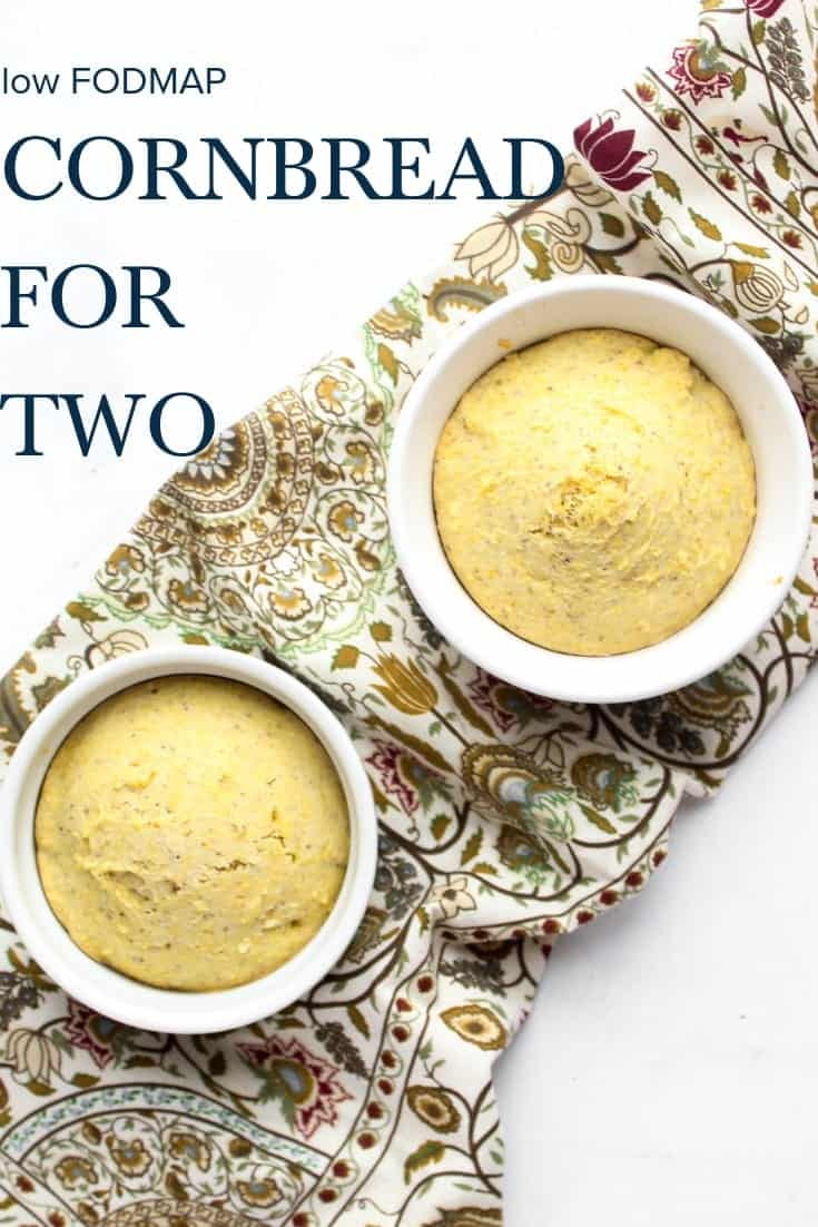 low FODMAP Cornbread for Two #lowfodmap #lactosefree #vegetarian