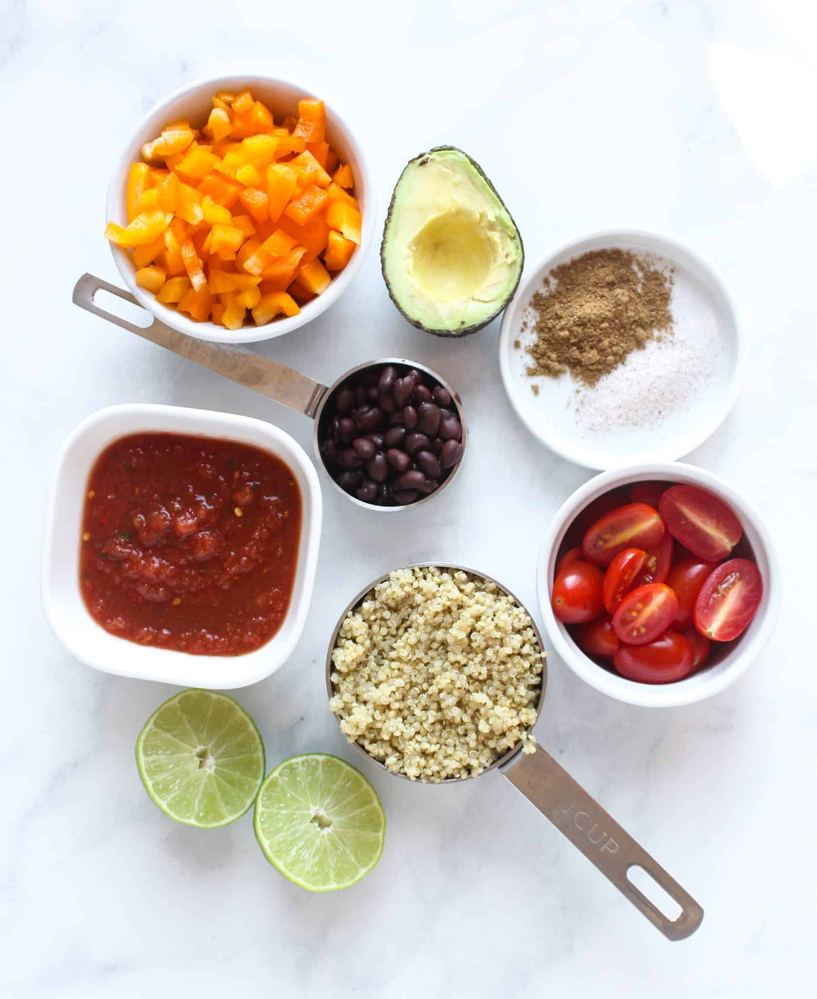 Taco Quinoa Salad #lunch #healthylunch #vegetarian #vegan #glutenfree #dairyfree