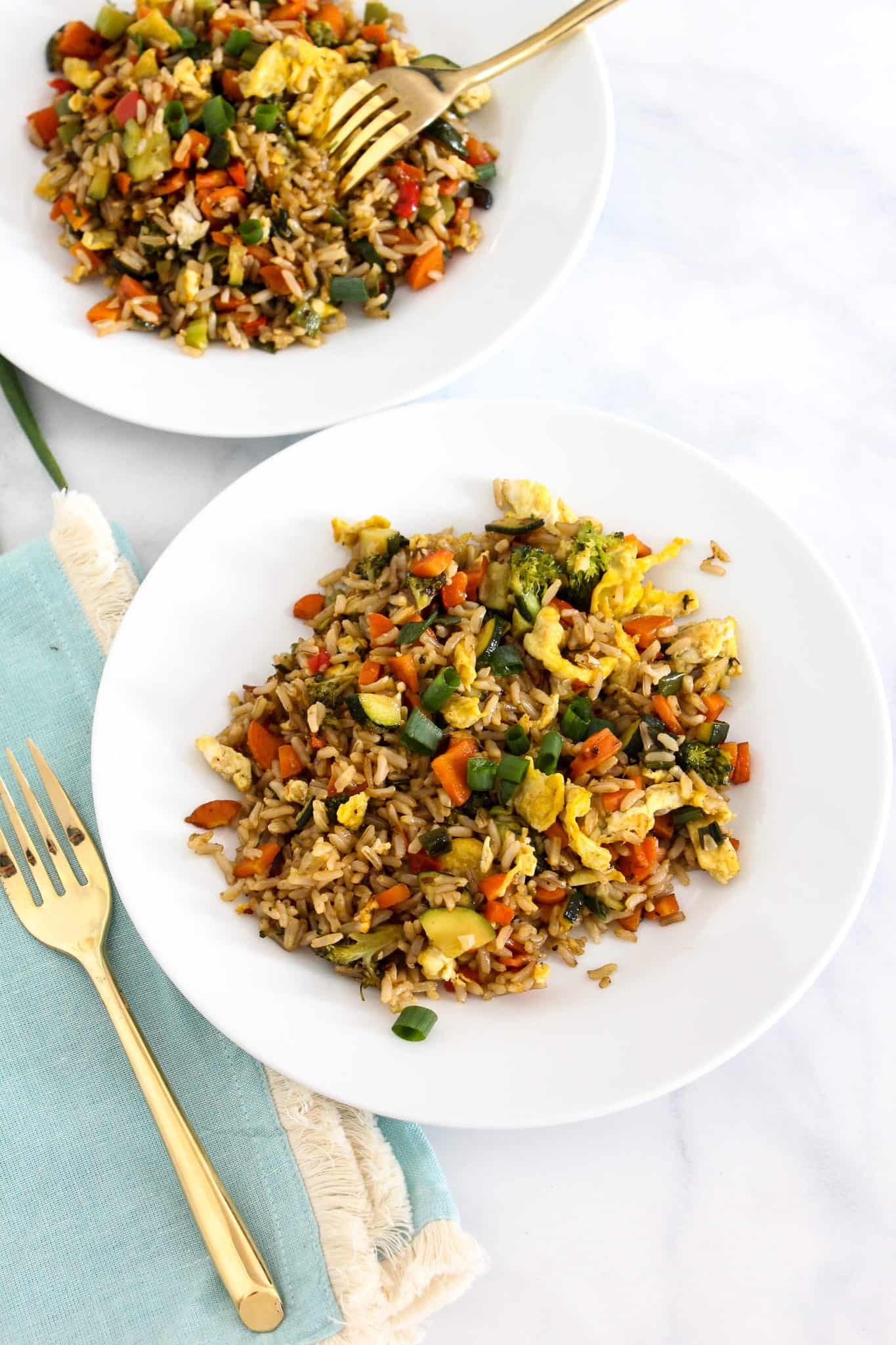 low FODMAP Vegetable Fried Rice #lowfodmap #glutenfree #dairyfree #fodyfoods