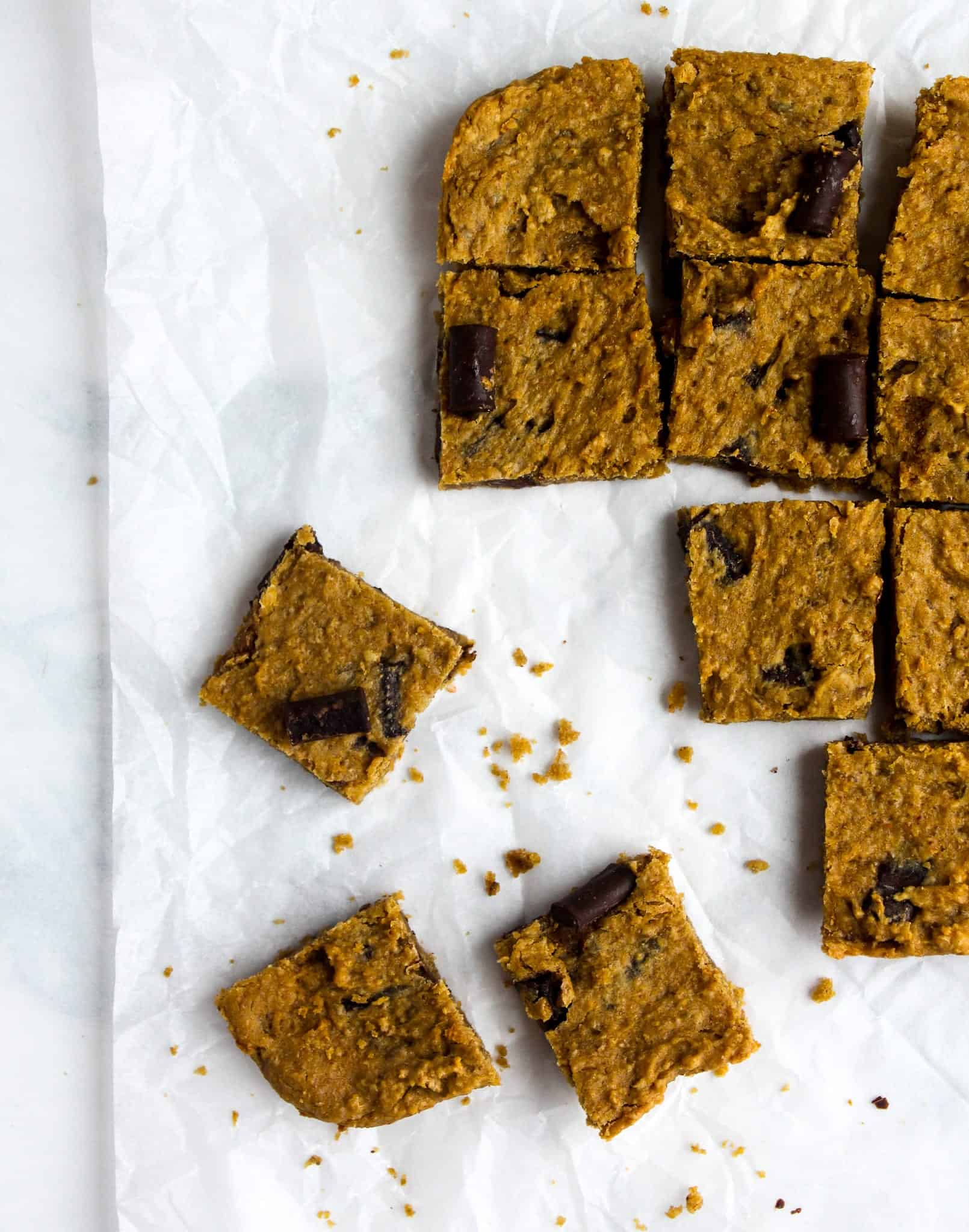 Chickpea Walnut Blondies - #glutenfree #grainfree #dairyfree #lowfodmap