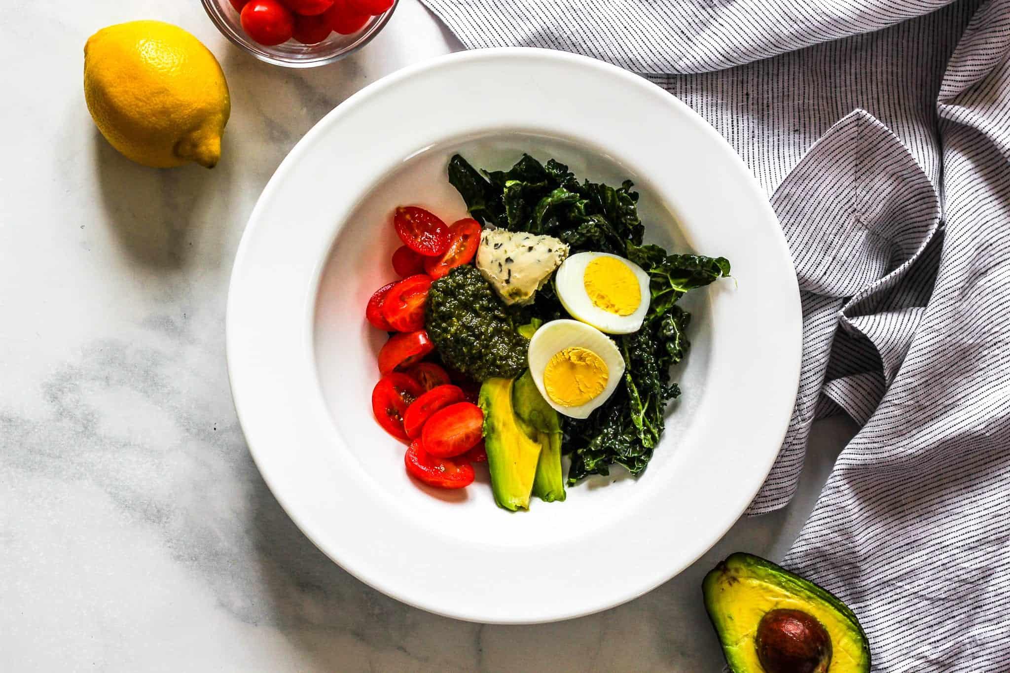 Tomato Basil Breakfast Bowl - #glutenfree #dairyfree #lowfodmap