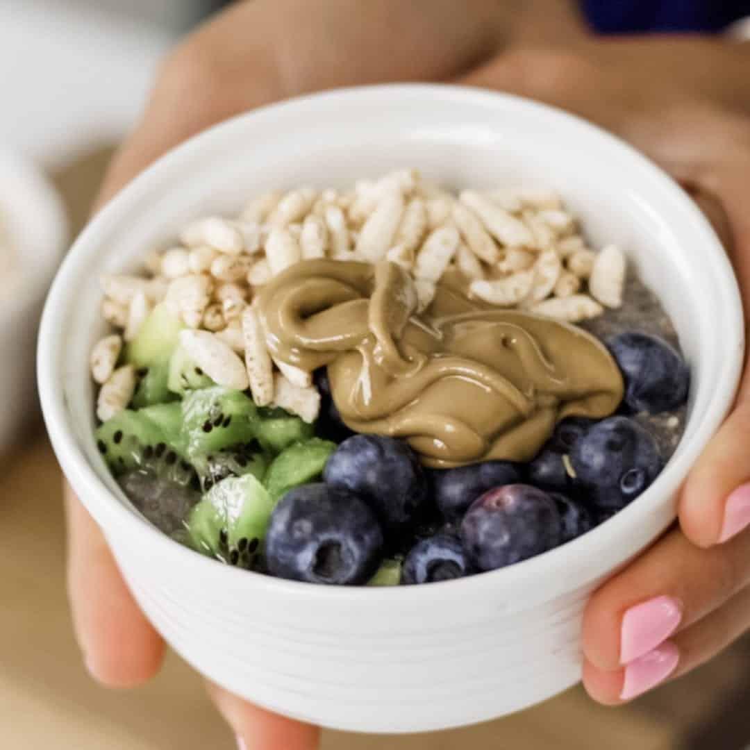 Chia Pudding Power Bowl - The 14 Day Elimination Diet Plan #tararochfordnutrition #foodallergies #glutenfree #dairyfree