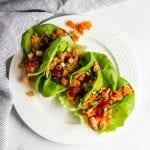 BBQ Chicken Lettuce Wraps #lowfodmap #glutenfree #dairyfree #healthydinner