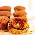 Pumpkin Spice Muffins with Cream Cheese #lowfodmaprecipes #glutenfreerecipes #lactosefree