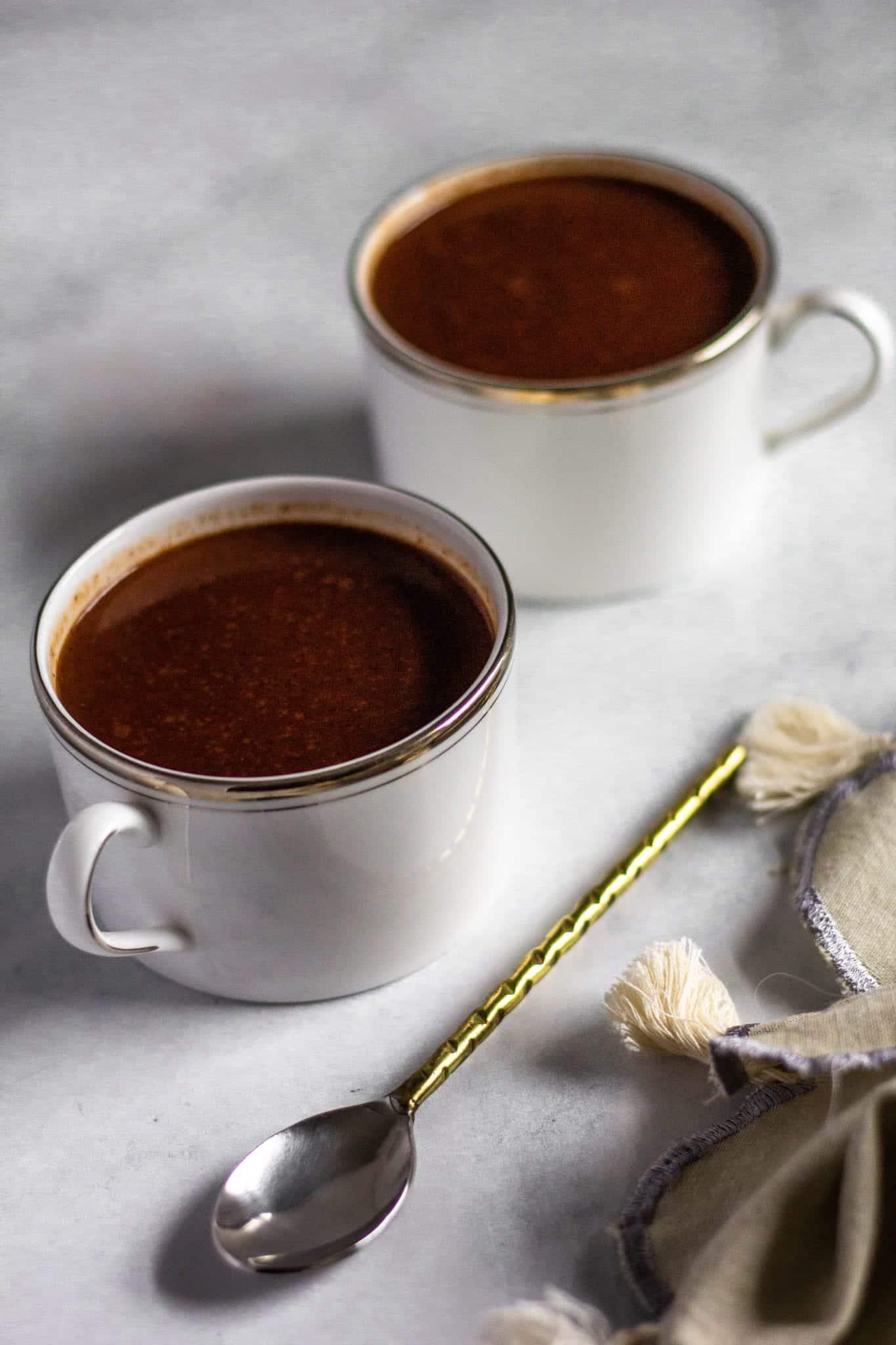 Low FODMAP French Hot Chocolate #hotcocoa #lowfodmaprecipe #tararochfordnutrition
