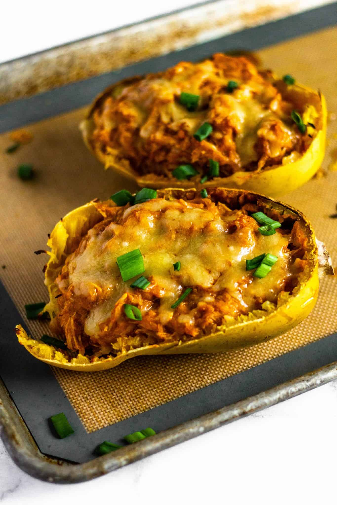 Spaghetti Squash Enchiladas #lowfodmap #healthydinner #tararochfordnutrition