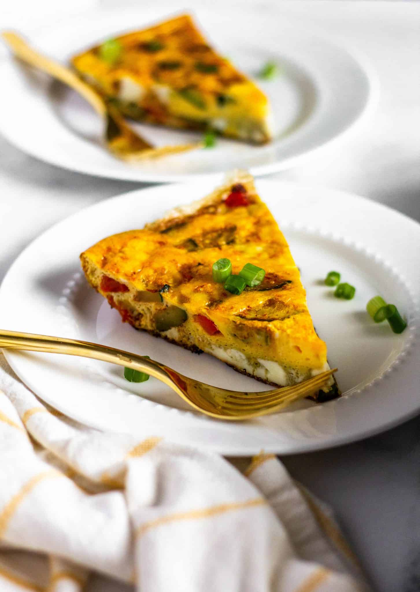 low FODMAP Vegetable Frittata #lowfodmap #healthyrecipes #tararochfordnutrition