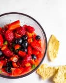 Red and Blue Berry Fruit Salsa #lowfodmap #tararochfordnutrition