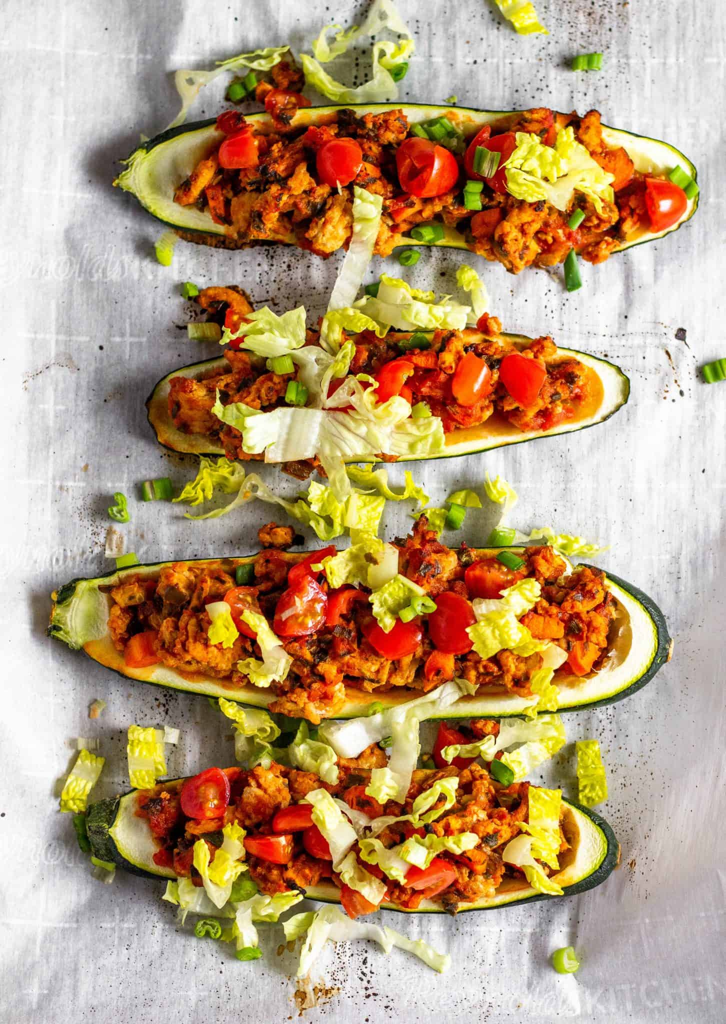 Taco Zucchini Boats #lowfodmap #tararochfordnutrition