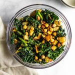 Roasted Potato Kale and Chickpea Salad #lowfodmdap #tararochford