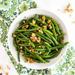 Green Beans with Toasted Walnuts | Tara Rochford Nutrition #healthysidedish #sidedishrecipep