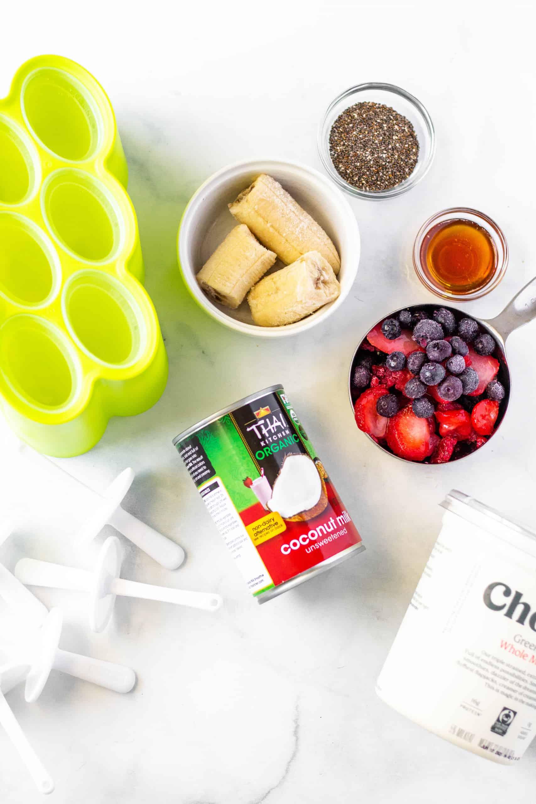 Berry Greek Yogurt Popsicles #berrypopsicle #healthypopsicle #glutenfree
